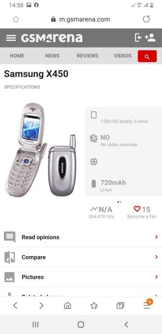 Samsung S450