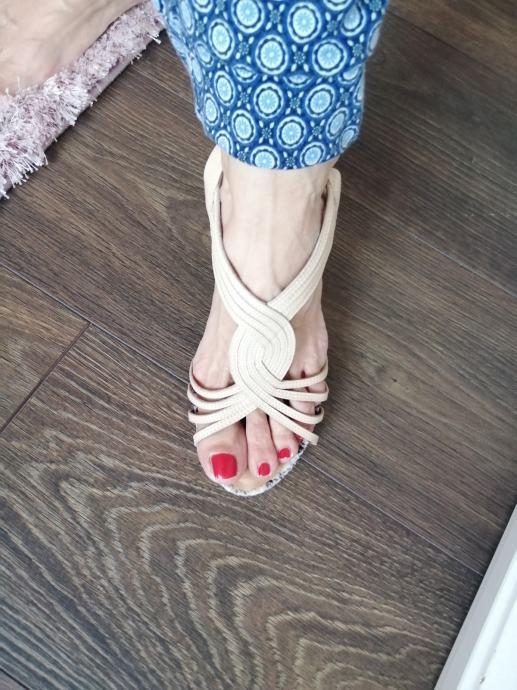 Ženske kožne sandale br. 39/40 NOVO!!!