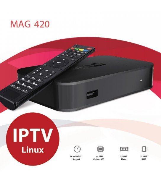 MAG 420 4K IPTV prijemnik,FullHD,novo u trgovini,račun,gar 1 godina