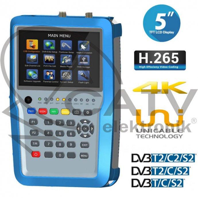MJERNI INSTRUMENT - COMBO UHD 4K HW7280 HEVC-DVB-S/S2-DVB-T/T2-C