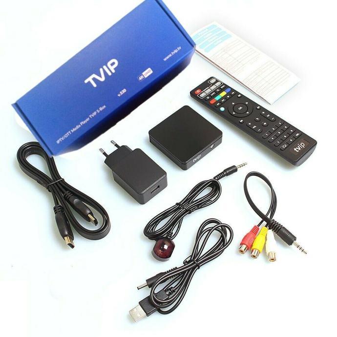 TVIP BOX 530 Mediacenter TVIP S-Box v.530 4K,novo u trgovini,račun,gar