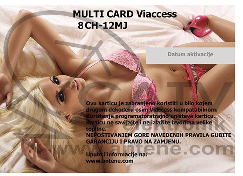 XXX - Kartica - Multicard 8 - 7 kanala na 12 mjeseci DVB-S2