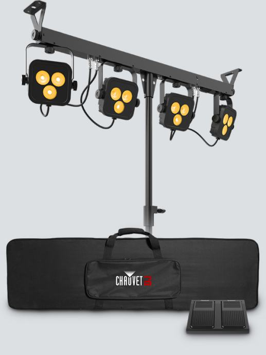 Chauvet 4Bar LT BLUETOOTH - LED rasvjeta sa torbom i footswitch pedal!