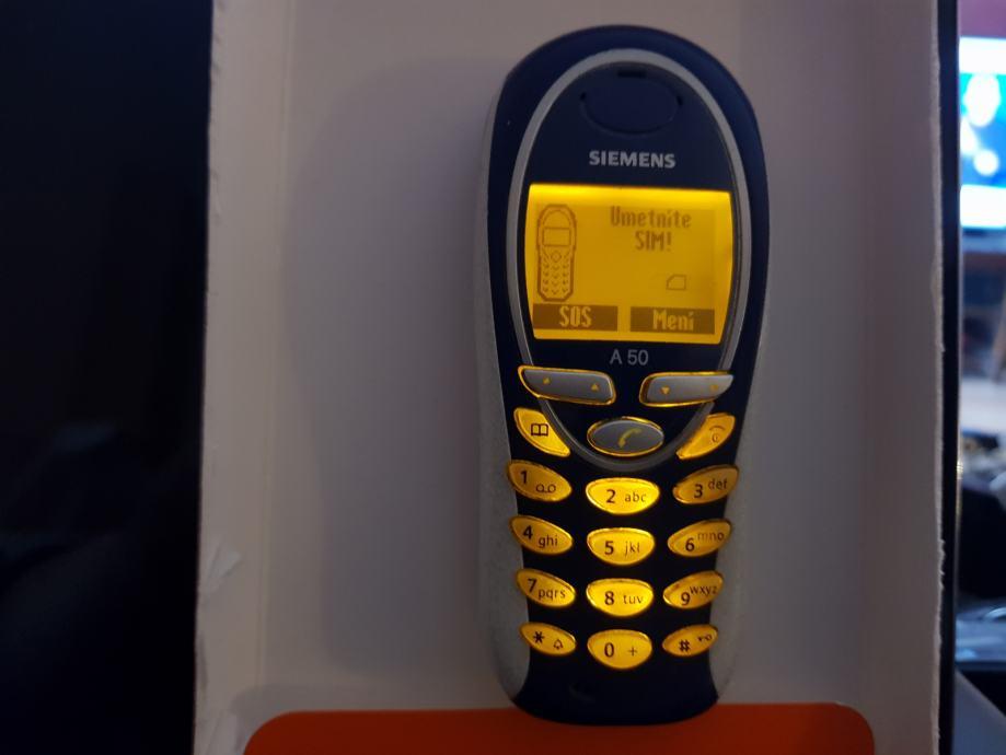 Siemens A50 u super stanju na T-Mobile mrežu(097,098,099,SIM) Hr.Meni!