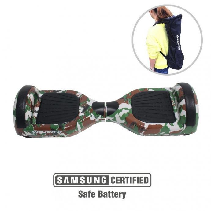 "Xplorer hoverboard City 6,5"" camouflage zeleni,novo u trgovini,gar 2 g"