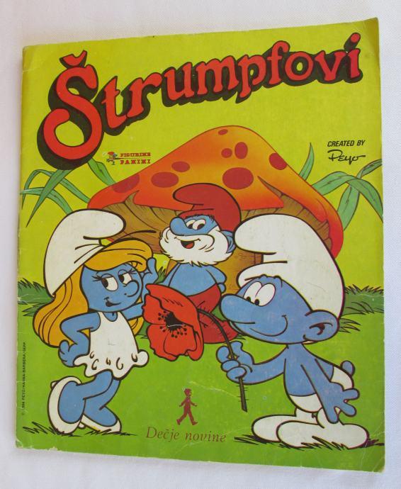 PANINI - ŠTRUMPFOVI, ALBUM SA SLIČICAMA 1984, POPUNJEN