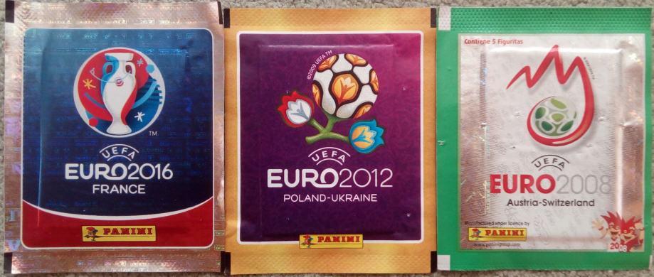 UEFA EURO PANINI (2016, 2012 i 2008) – neotvoreni paketići