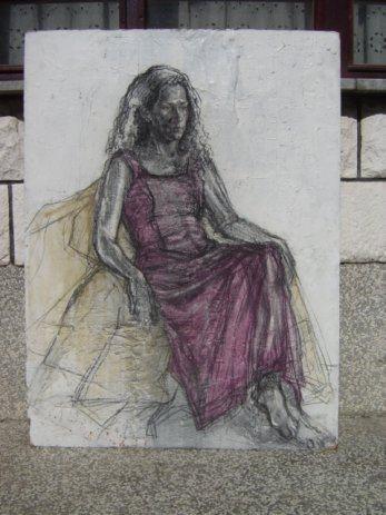 """""""Djevojka u ljubicastom"""", akademski slikar Ivica Kurtz"""