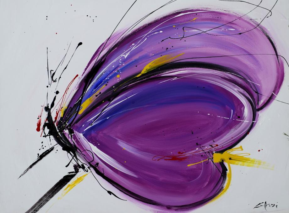 """Domenico Gonzi """"Rozi Leptir"""" ulje na platnu 90x120cm"""