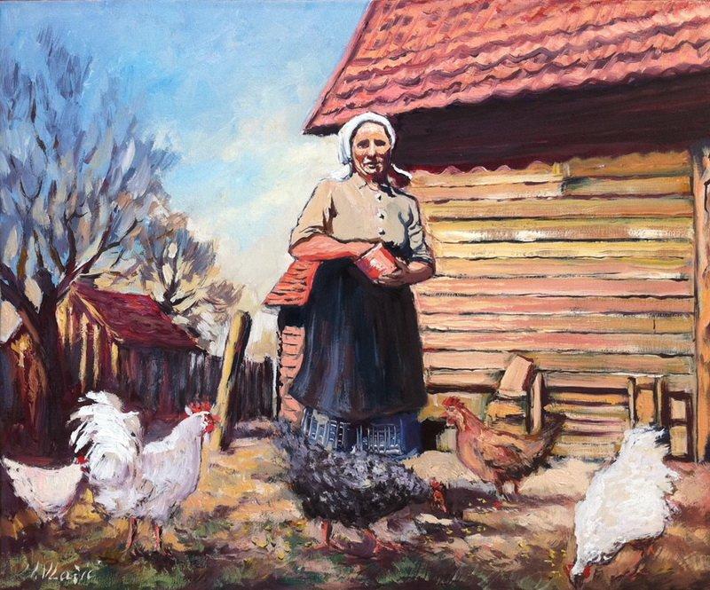 """Ivan Vlašić """"Moja majka """" 50x60cm ulje/platnu"""