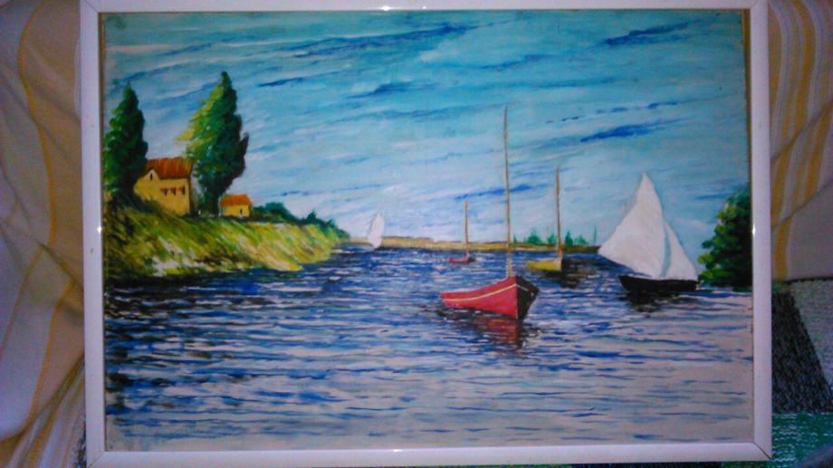 Slika - Jedrilice na jezeru, idealna za apartman!