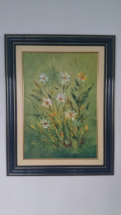 Slika Cvijece Ulje Na Platnu