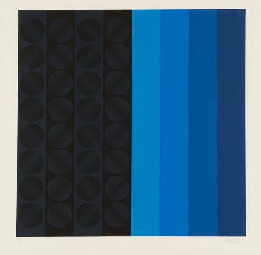 Slika Cyclophoria, 1971. Ivan Picelj, dimenzije 70x70 cm