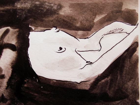 Umjetnička slika- Ženski akt