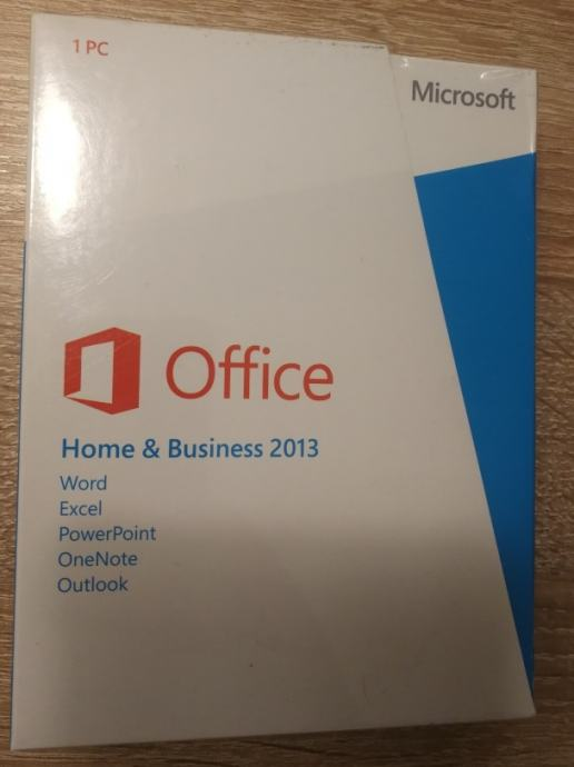 MS Office 2013 Home & Business | NOVO | HRV. | Retail BOX | R1