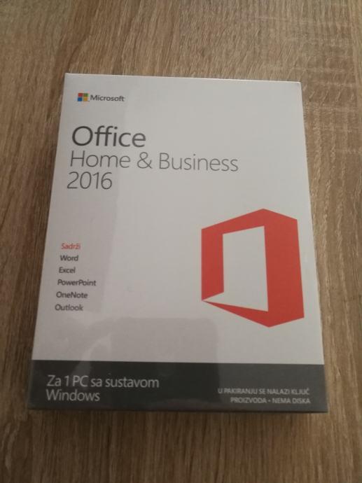 MS Office 2016 Home & Business | Orig. | NOVO | Retail BOX | R1