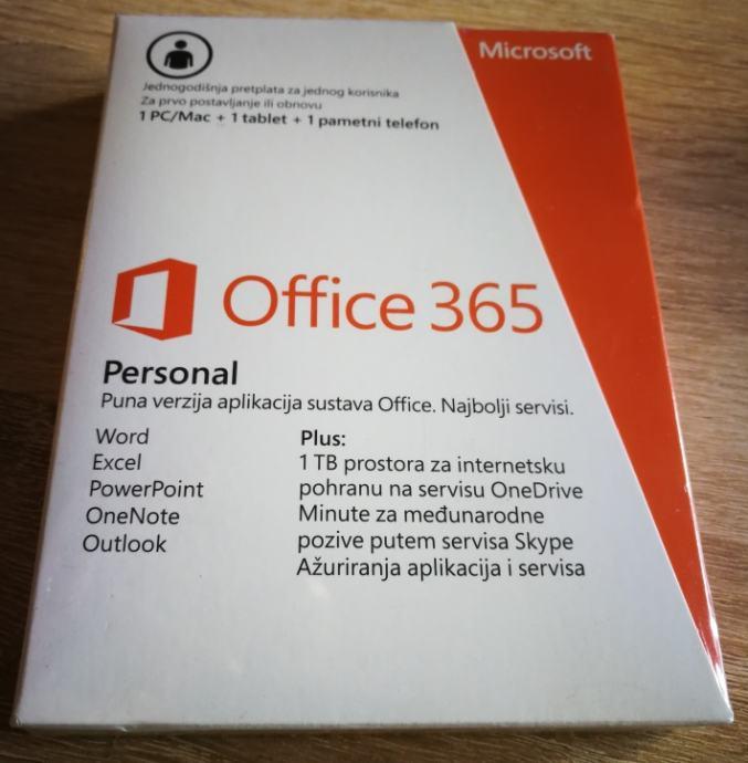 MS Office 365 Personal | Retail | 1 PC | Win|Mac | Orig | Rč R1