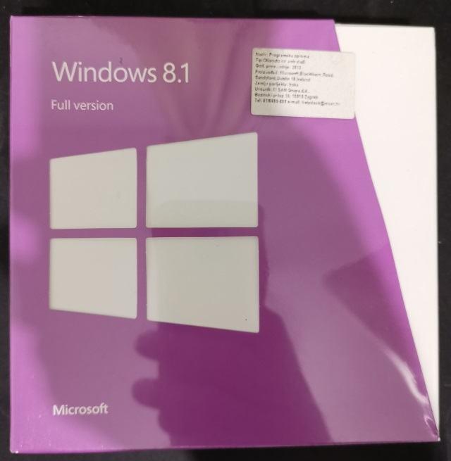 Microsoft Windows 8.1 64bit RETAIL DVD Full verzija | Orig. | Račun R1