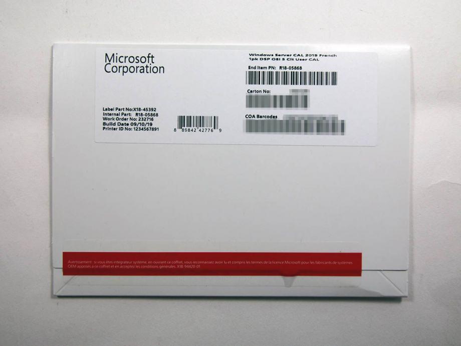 Windows Server 2019 5 Cal User/Device licenca   NOVO   R1 rač