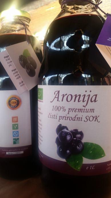 ARONIJA - ČISTI PREMIUM SOK 100% 1 litra