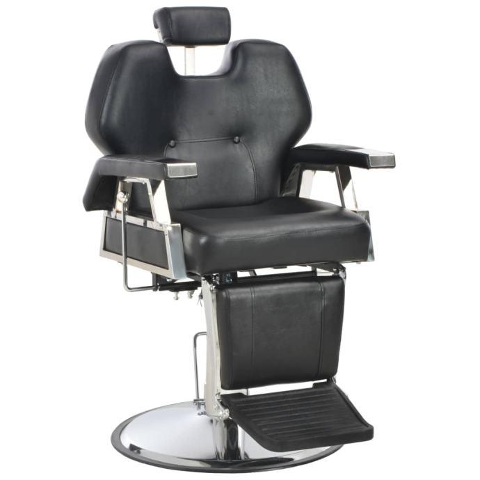 Brijačka stolica od umjetne kože crna 72 x 68 x 98 cm  - NOVO