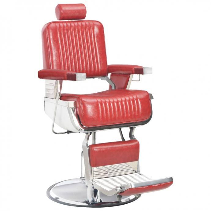 Brijačka stolica od umjetne kože crvena 68 x 69 x 116 cm  - NOVO