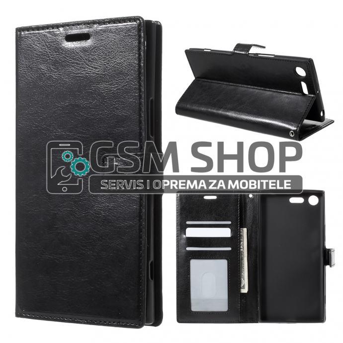 Kožna torbica futrola Sony xperia XZ Premium wallet Crazy Horse