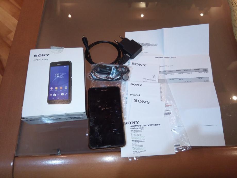Sony Xperia E4g, E2003, mobitel sa svom opremom + ukrasna maskica