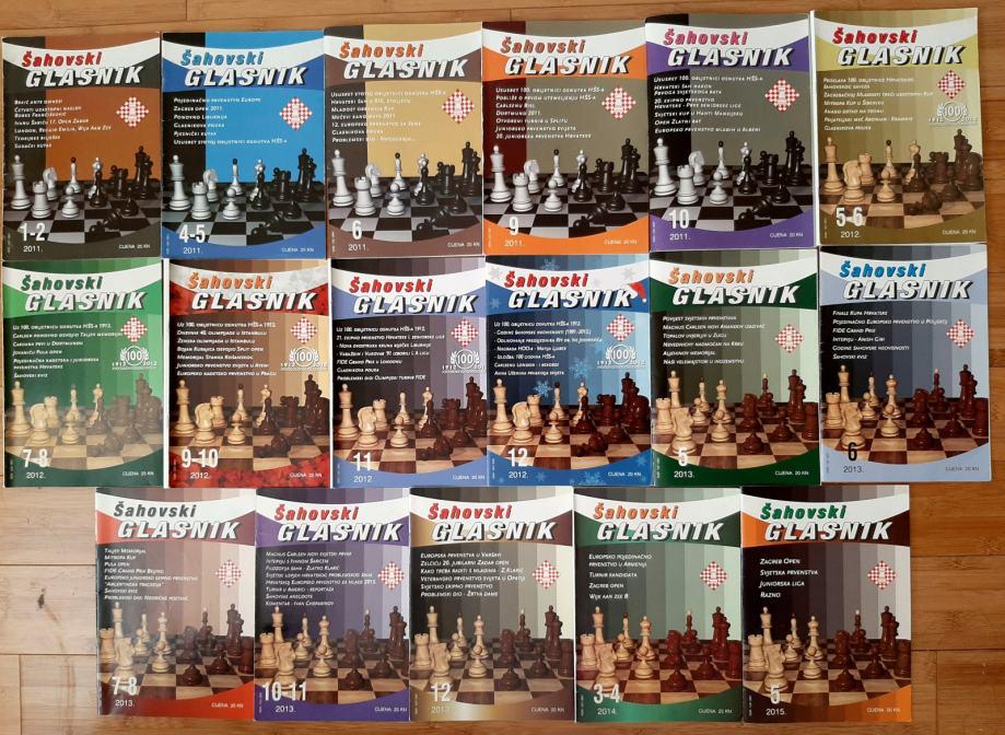 Šahovski glasnik - časopis 2011, 2012, 2013, 2014, 2015