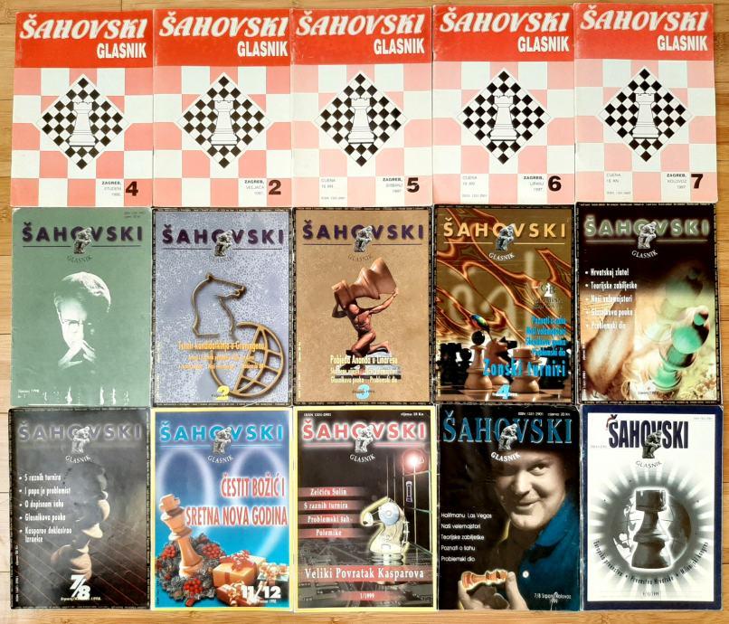 Šahovski glasnik - časopis1996, 1997, 1998, 1999