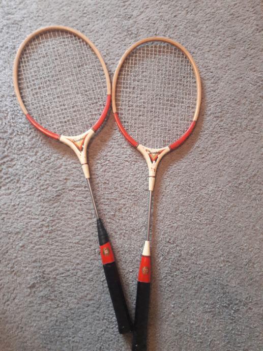 Reketi za badminton vintage