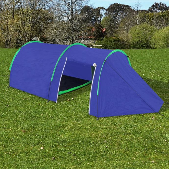 Šator za kampiranje za 4 osobe tamna plava/zelena - NOVO