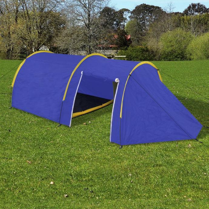 Šator za kampiranje za 4 osobe tamna plava/žuta - NOVO