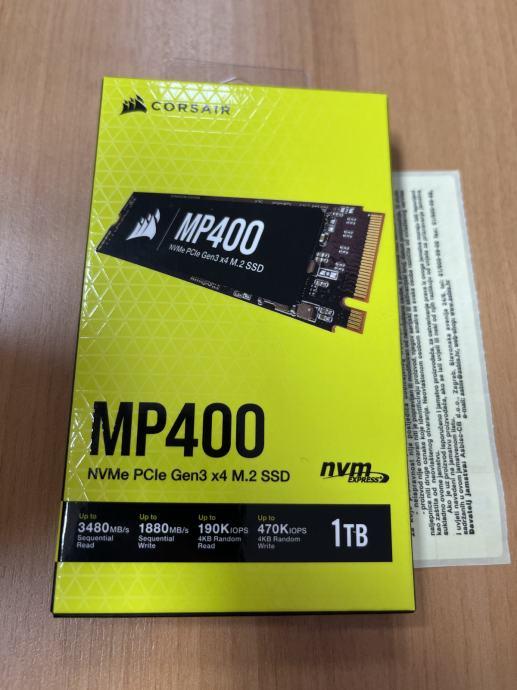 Corsair SSD 1TB MP400 PCIe x4 NVMe M.2 (r/w: 3480/1880MB/s) NOVO R1 rč