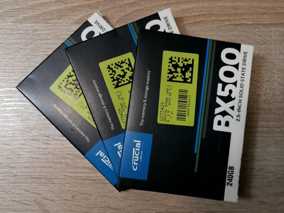 Crucial SSD disk BX500, 240 GB, 2.5'' SATA | Novo | jamstvo | R1 račun