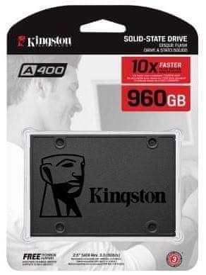 "Kingston SSD disk A400 960 GB, 6.35 cm (2,5""), SATA3"