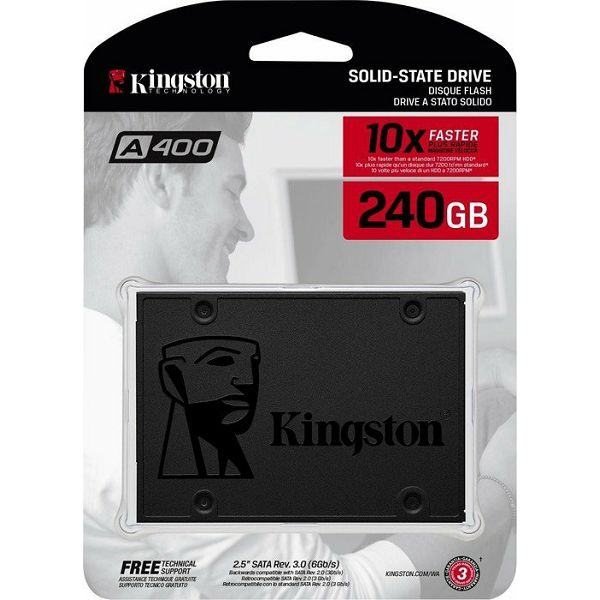 SSD disk Kingston 240GB SA400S37/240G 2.5'' | Novo | Račun R1