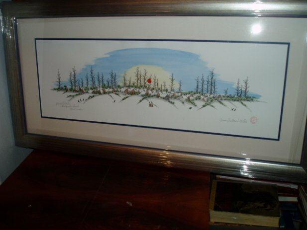 IVAN LACKOVIĆ       ŠUMA     akvarelna / grafika     45,5 x 90,5 cm