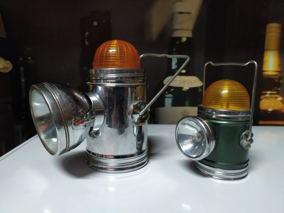 Stare željezničarske signalne lampe