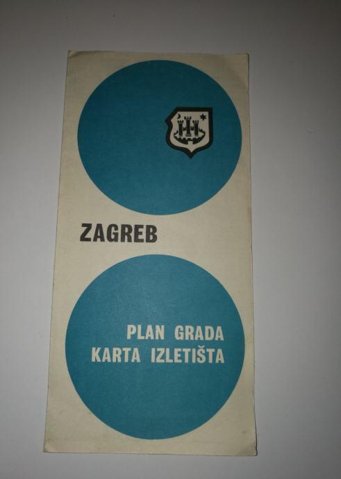 Stari plan karta grada Zagreba iz 1967.