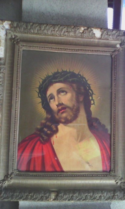 Starinska Slika Ulje Na Platnu Isus