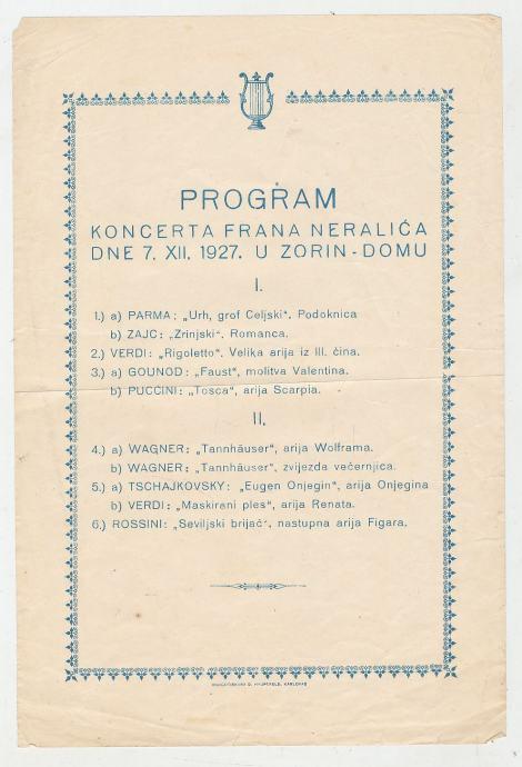 Zorin dom Karlovac Fran Neralić 1927