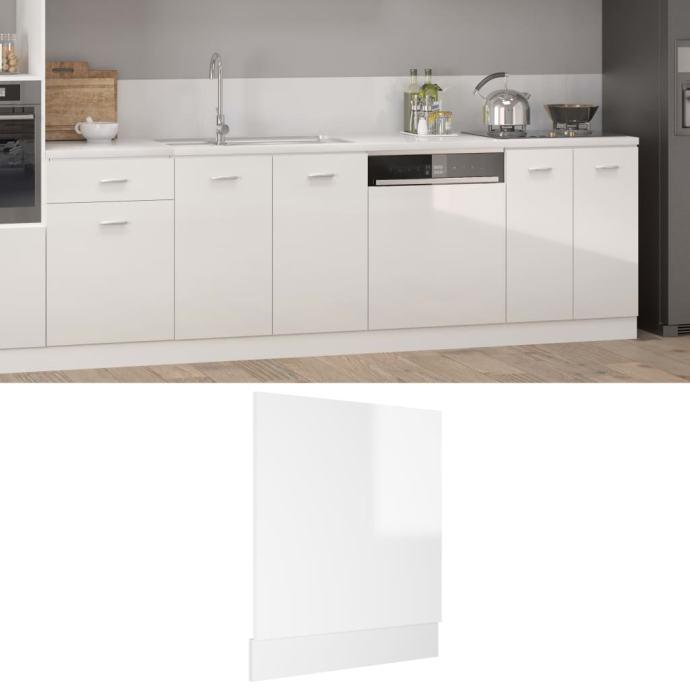 Ploča za perilicu posuđa sjajna bijela 59,5 x 3 x 67 cm iverica - NOVO