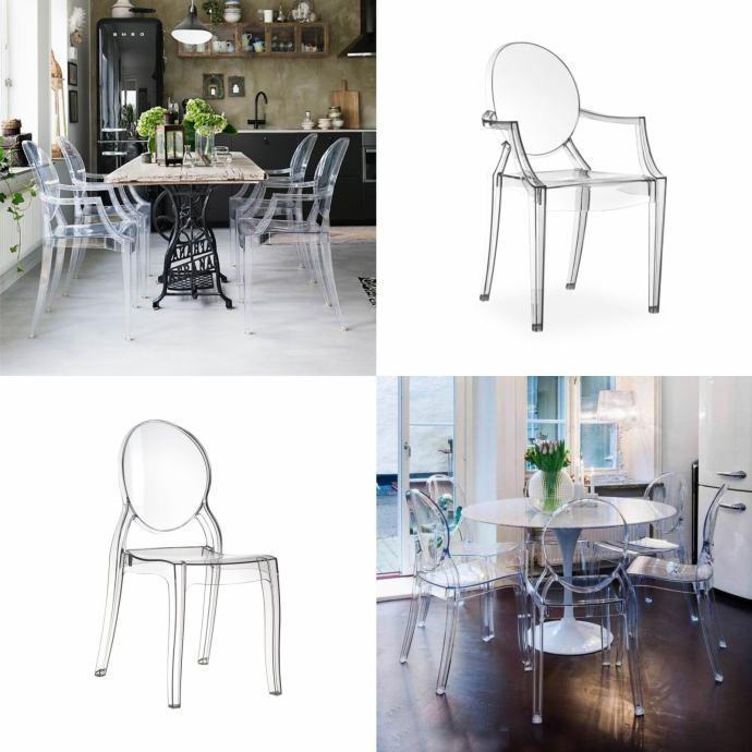 • SHOWROOM POPUST • Dizajnerske stolice — PROZIRNE