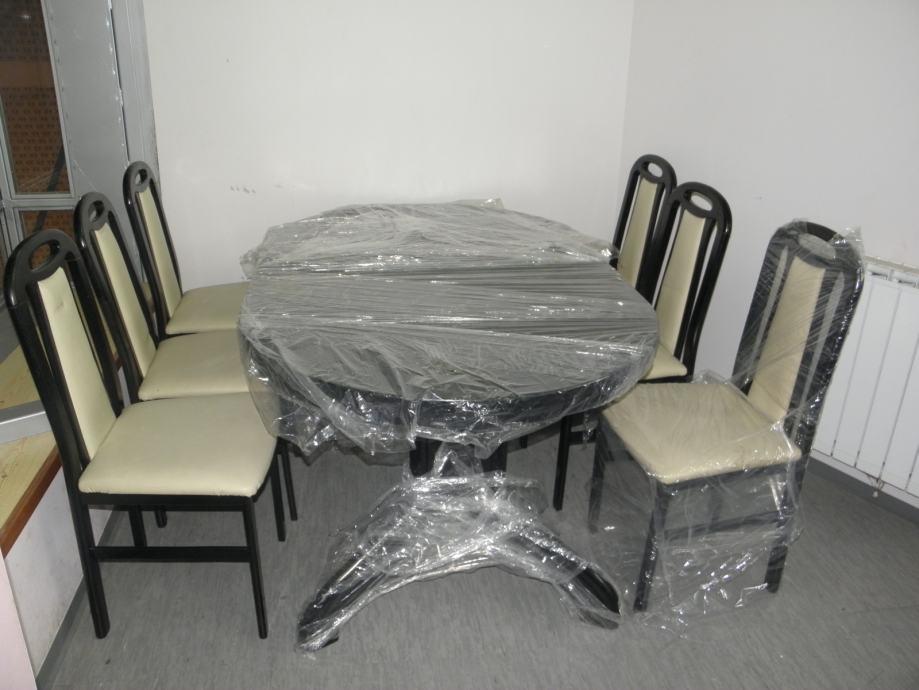 Stol na razvlačenje i stolice povoljno