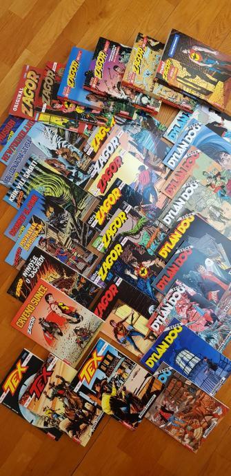 Komplet Zagor, Dylan Dog i Tex Willer stripova - novi naslovi u nizu!