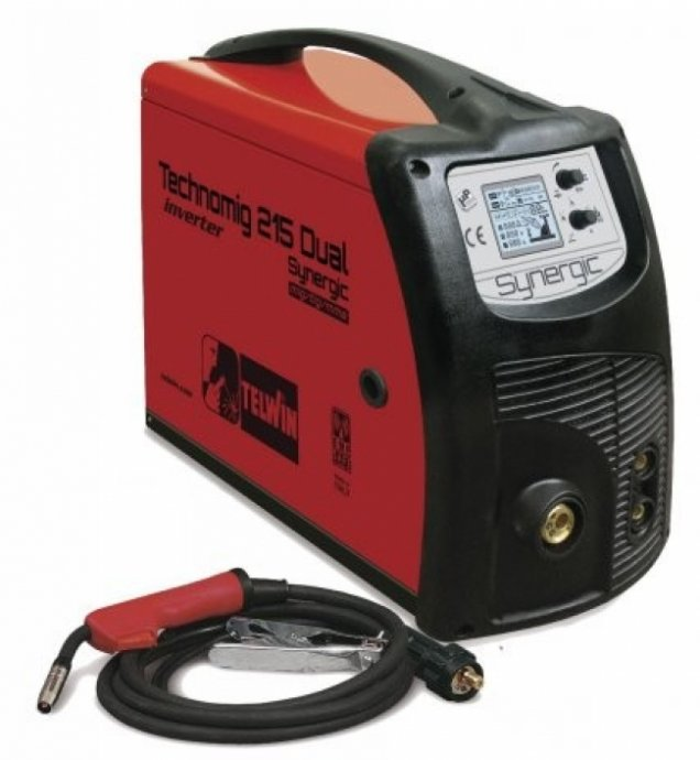 TELWIN INVERTER MIG/MAG TECHNOMIG 215 DUAL SYNERGIC CO2 * 220A /816053