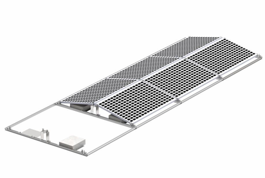 Alu konstrukcija za solarne elektrane istok/zapad Huawei