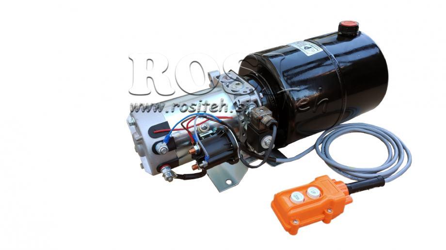 Hidraulični agregat 12V in 24V jednoradni 8 lit