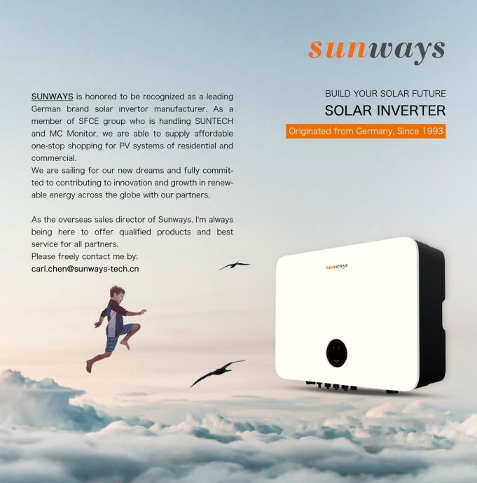 Sunways Inverters monophase - triphase Europe